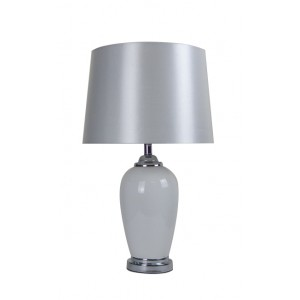 Classic Black Glass Table Lamp White Shade