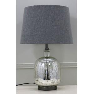 Premium Quality Glass Table Lamp - Dark Grey