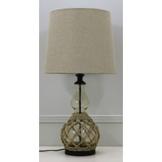 Premium Quality Glass Table Lamp - Rope ..