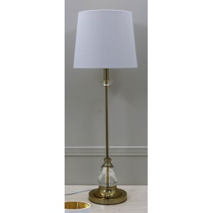 Premium Quality Classic Table Lamp with White Shade - H76.2