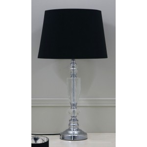 Premium Quality Crystal Table Lamp with Black Shade - H60