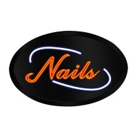 LED Sign Oval Nail