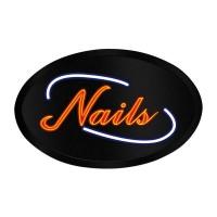 LED Sign Oval Nail