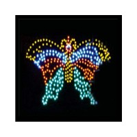 LED Sign Square Butterfly