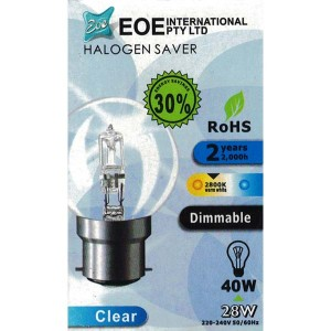 Halogen Bulb Fancy Round Clear