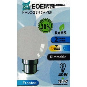 Halogen Bulb Fancy Round Frosted