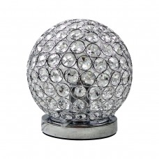 Chrome & Crystal Table Touch Lamp - Roun..
