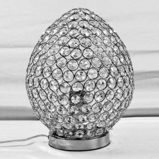 Chrome & Crystal Table Touch Lamp - Egg ..