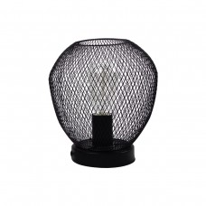 Vintage Metal Grid Table Lamp Black