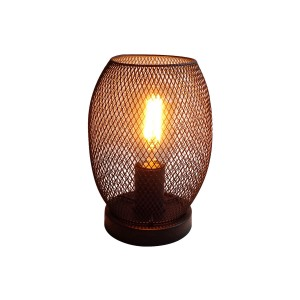 Vintage Wire Rattan Base Table Lamp