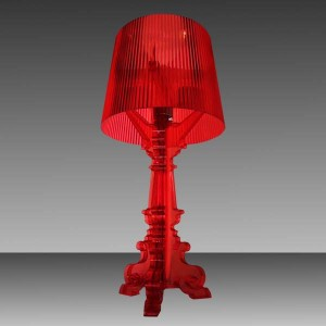 Table Lamp Acrylic Red