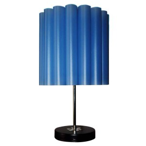 Table Lamp with Fireproof shade Blue