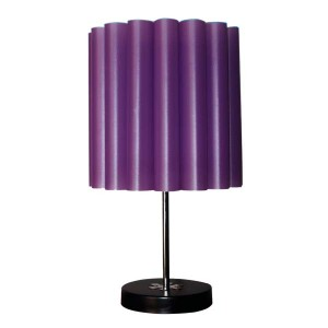 Table Lamp with Fireproof shade Purple