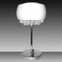 Crystal Chandelier White Glass Shade