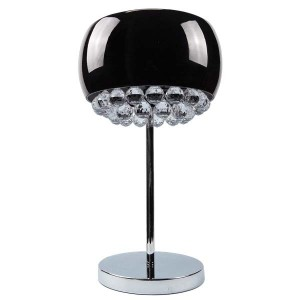 Crystal Chandelier Black Glass Shade