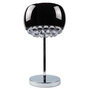 Crystal Chandelier Black Glass Shade