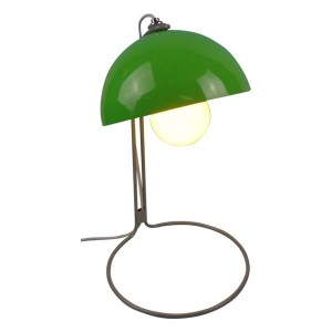 Metal Based Table Lamp Green