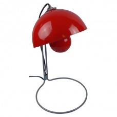 Metal Based Table Lamp Red