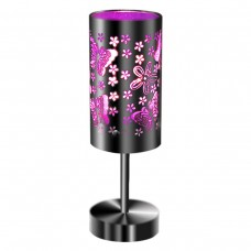 Table Touch Lamp Purple Butterflies