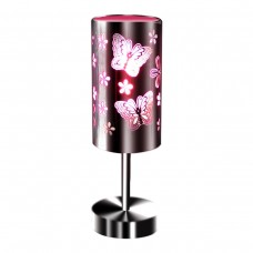 Table Touch Lamp Pink Butterflies