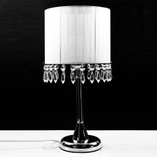 Chandelier Table Touch Lamp White