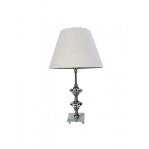 Crystal Table Lamp White Shade