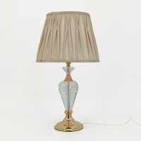 Crystal Table Lamp Beige Shade