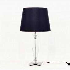 Crystal Table Lamp Black Shade
