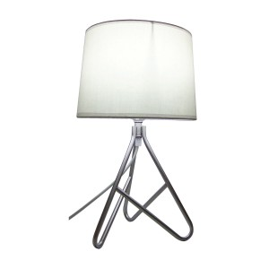 Wire Metal Based Table Lamp White