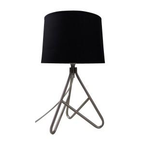 Wire Metal Based Table Lamp Black