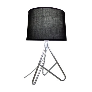 Wire Metal Based Table Lamp Black