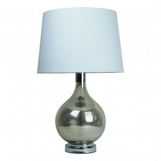 Classic Glass Table Lamp Teardrop Base White Shade