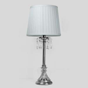 Classic Chandeleir Table Lamp White Shade