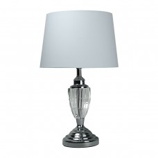 Classic Crystal Table Lamp White Shade