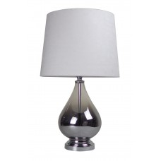 Classic Glass Table Lamp White Shade