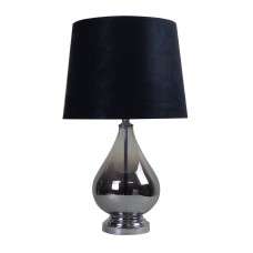 Classic Glass Table Lamp Black Shade