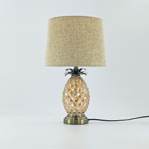 Antique Pineapple Brass Table Lamp