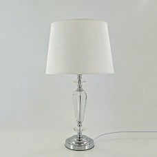 Crystal Silver White Table Lamp
