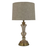 Antique Glass Gold Table Lamp