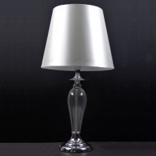 Table Lamp Glass Base White