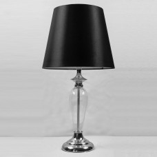 Table Lamp Glass Base Black