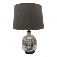 Premium Quality Glass Table Lamp - Classic design with Dark Grey Shade - H59