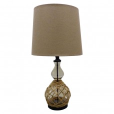 Premium Quality Glass Table Lamp with Rope Mesh - H74