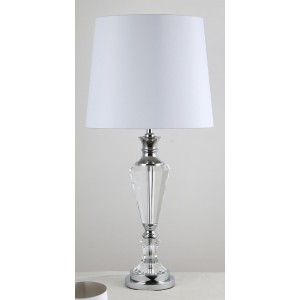 Premium Quality Crystal Table Lamp - with White Shade