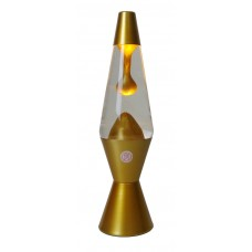 Lava Lamp Clear/Metallic Gold